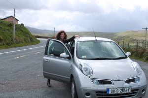 The Nissan Micra I drove around Ireland with my mom